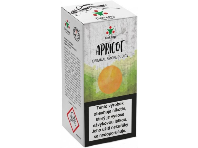 liquid dekang apricot 10ml 18mg merunka