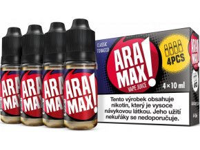 liquid aramax 4pack classic tobacco 4x10ml3mg