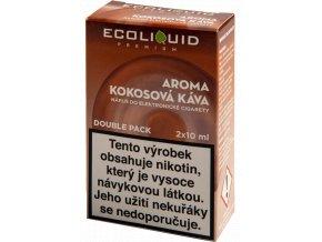 COCONUT COFFEE - český ECOLIQUID - 2x10ml