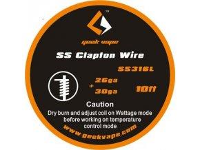 Geekvape SS316 Clapton odporový drát 26Ga+30Ga (3m)