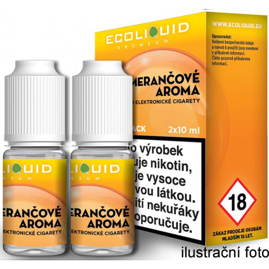 Ecoliquid (CZ) POMERANČ český ECOLIQUID - 2x10ml Obsah nikotinu: 0mg