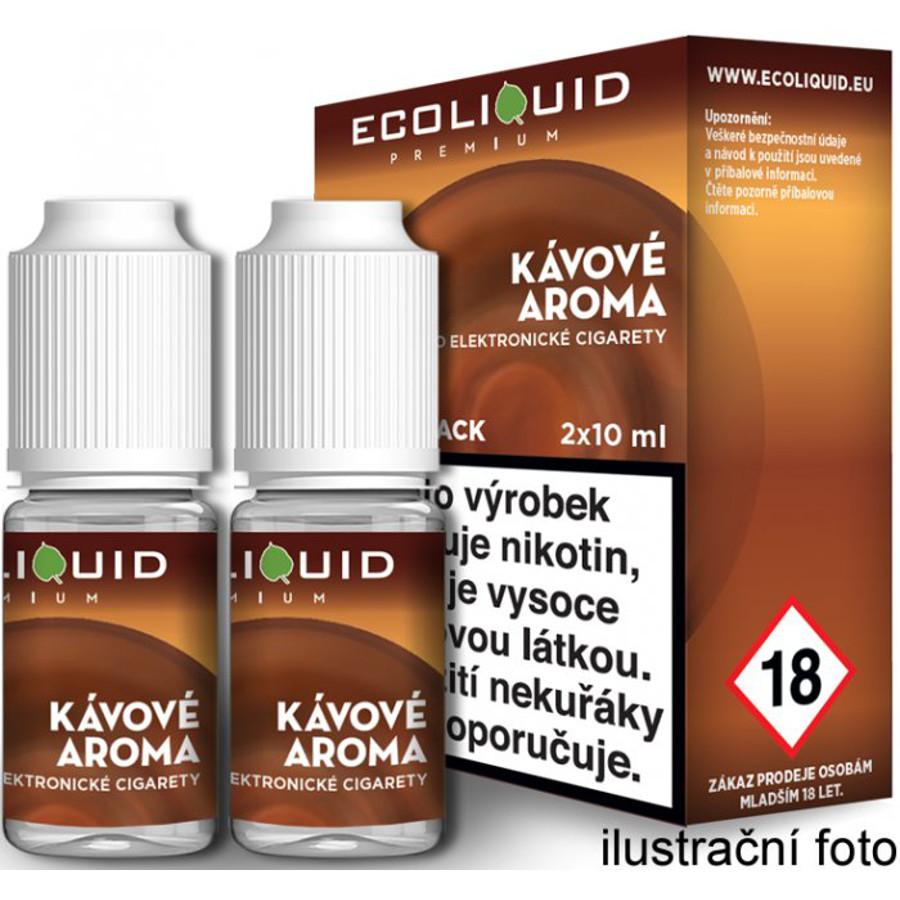 Ecoliquid (CZ) KÁVA - český ECOLIQUID - 2x10ml Obsah nikotinu: 0mg