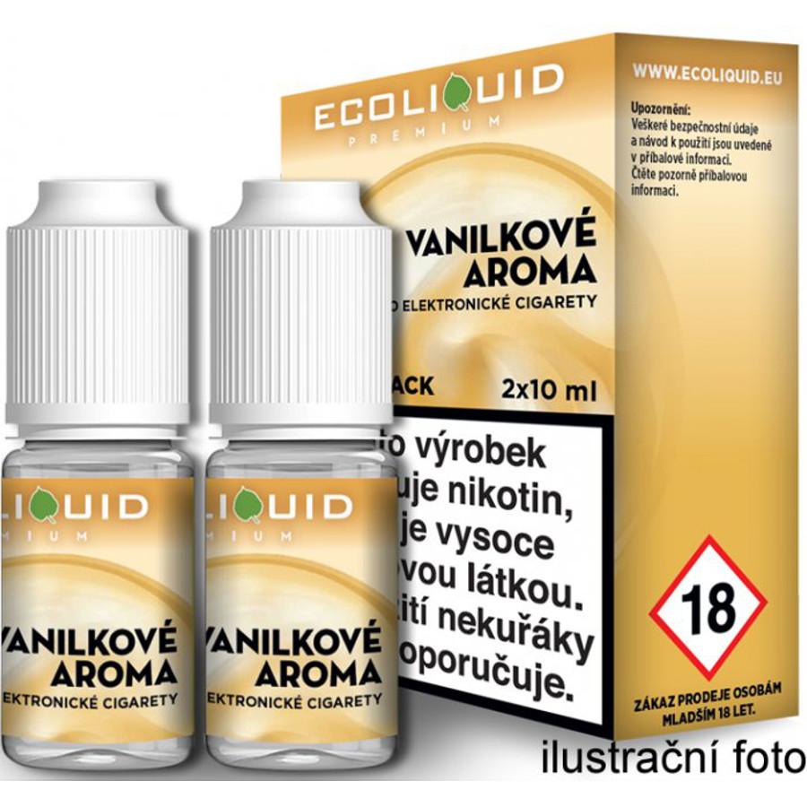 Ecoliquid (CZ) VANILKA český ECOLIQUID - 2x10ml Obsah nikotinu: 0mg