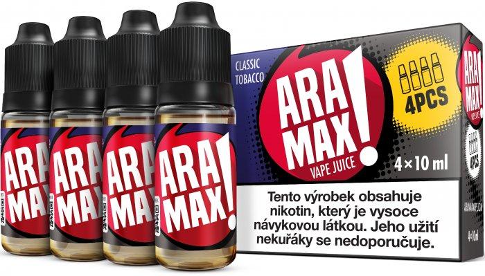 Classic Tobacco - Aramax liquid - 4x10ml Obsah nikotinu: 3mg