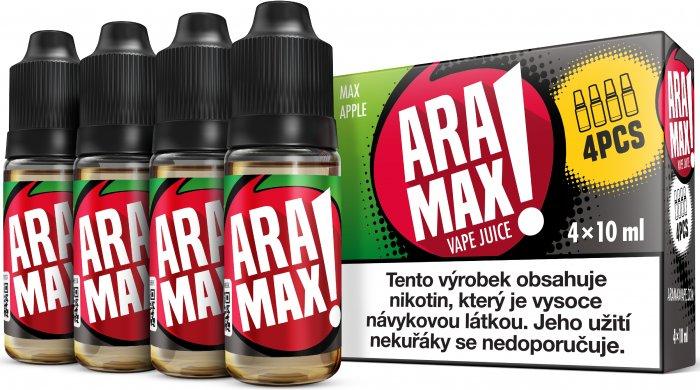 Jablko / Apple - Aramax liquid - 4x10ml Obsah nikotinu: 6mg