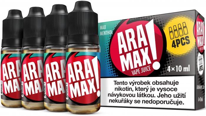 Mentol / Menthol - Aramax liquid - 4x10ml Obsah nikotinu: 3mg