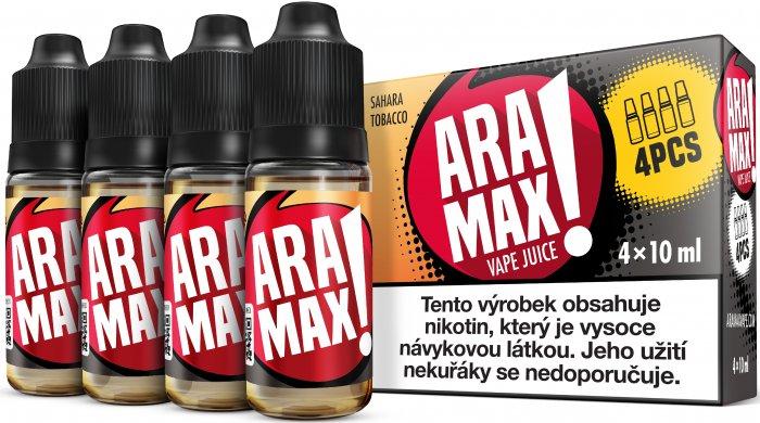 Sahara Tobacco - Aramax liquid - 4x10ml Obsah nikotinu: 3mg