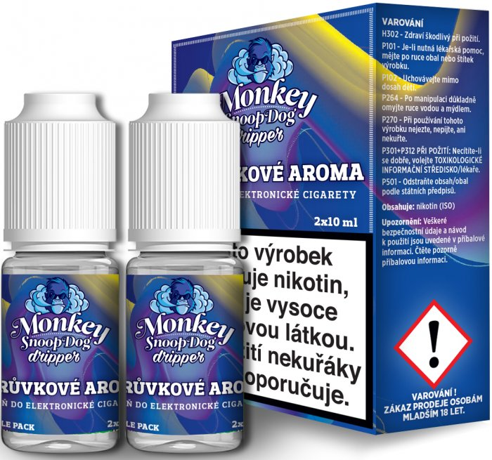 Ecoliquid (CZ) MONKEY SNOOPDOG DRIPPER BORŮVKA - 2x10ml Obsah nikotinu: 2mg
