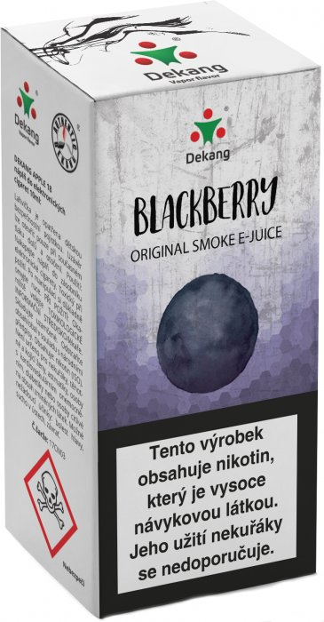 Liquid Dekang Ostružina (Blackberry) 10ml Obsah nikotinu: 6mg