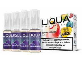 Liquid LIQUA CZ Elements 4Pack Blackcurrant 4x10ml-3mg (černý rybíz)