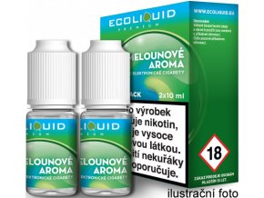 Liquid Ecoliquid Premium 2Pack ICE Melon 2x10ml - 3mg (Svěží meloun)