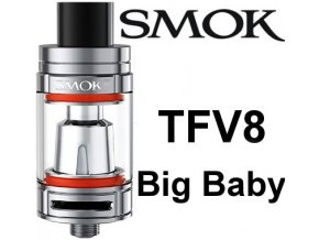 Smoktech TFV8 Big Baby clearomizer Silver