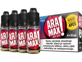 aramax 4pack usa tobacco 4x10ml