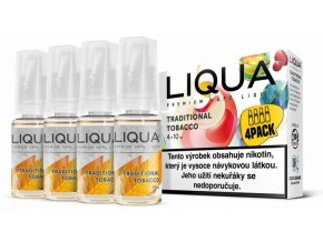 liqua cz elements 4pack traditional tobacco 4x10ml tradicni tabak