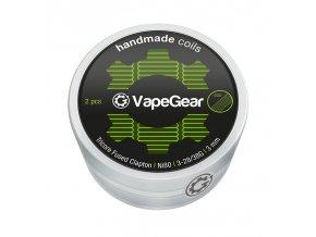 VapeGear Handmade Coils Tricore Fused Clapton, Ni80, 2ks, 3-28/38G, 3mm