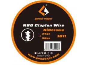 Geekvape N80 Clapton odporový drát 24Ga+36Ga 3m