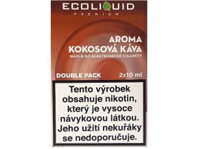 Liquid Ecoliquid Premium 2Pack Coconut Coffee 2x10ml - 18mg