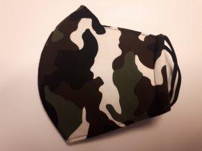 Antibakteriální textilní rouška maskáč