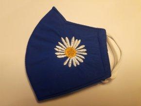 Antibakteriální textilní rouška modrá