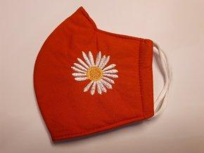 Antibakteriální textilní rouška oranžová