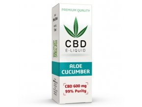 CBD Vape Liquid - 10ml - 600mg - 6% - Aloe Cucumber