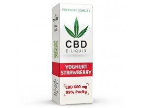 CBD Vape Liquid - 10ml - 600mg - 6% - Strawberry Yoghurt