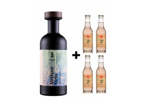 MUYU Vetiver Gris + 4x Ping Grapefruit soda