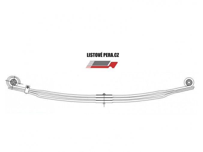 Listové pero VOLVO F10 F12 F16 Přední trojlisté
