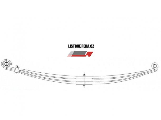 Listové pero VOLVO F12 FL7 FL10 Přední trojlisté
