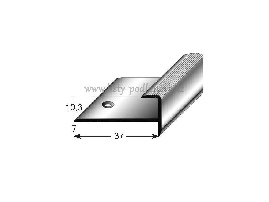 Zásuvný profil  10 mm s nosem