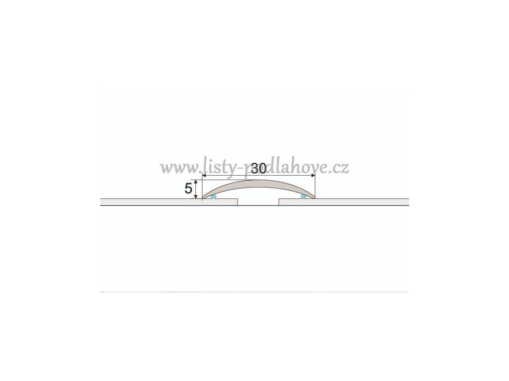 PROFIL Team - Přechodový profil 30 mm, oblý - samolepící