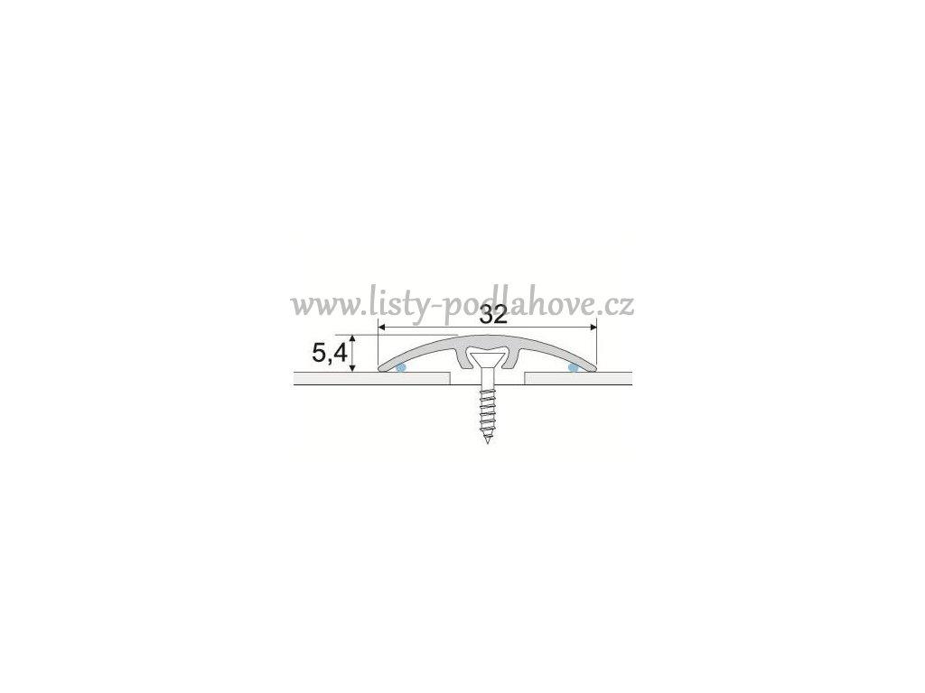PROFIL Team - Přechodový profil 32 mm, oblý - narážecí
