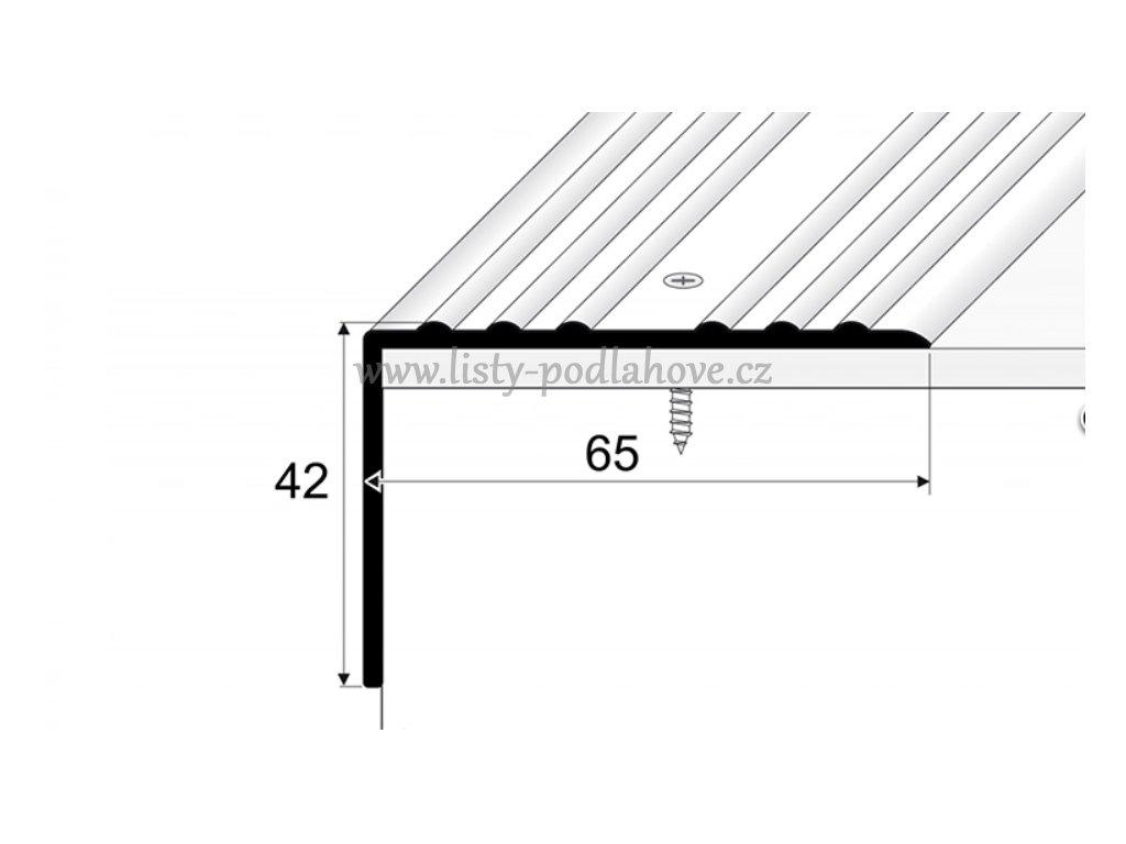 PROFIL Team - Schodová hrana 65 x 40 mm, šroubovací