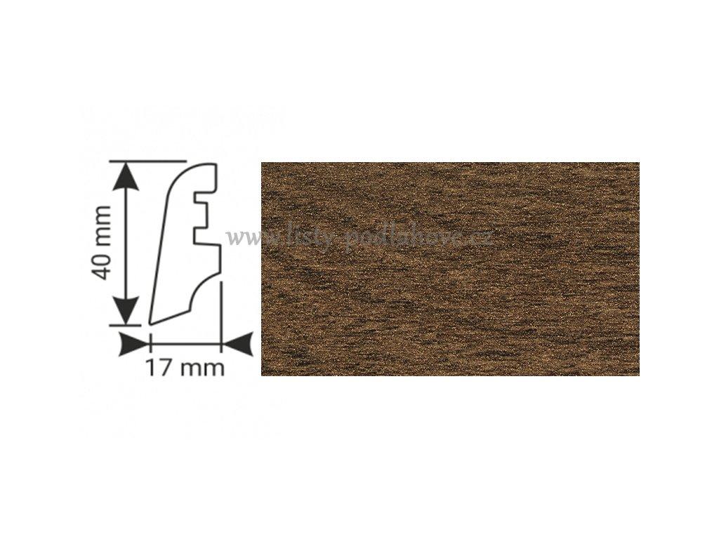 K-Produkt lišta KP40 13126 Dub bahenní
