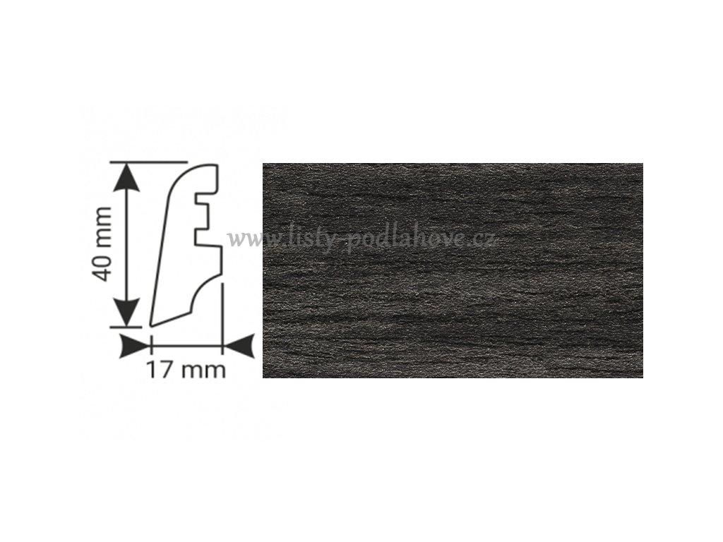 K-Produkt lišta KP40 13520 Dub černý