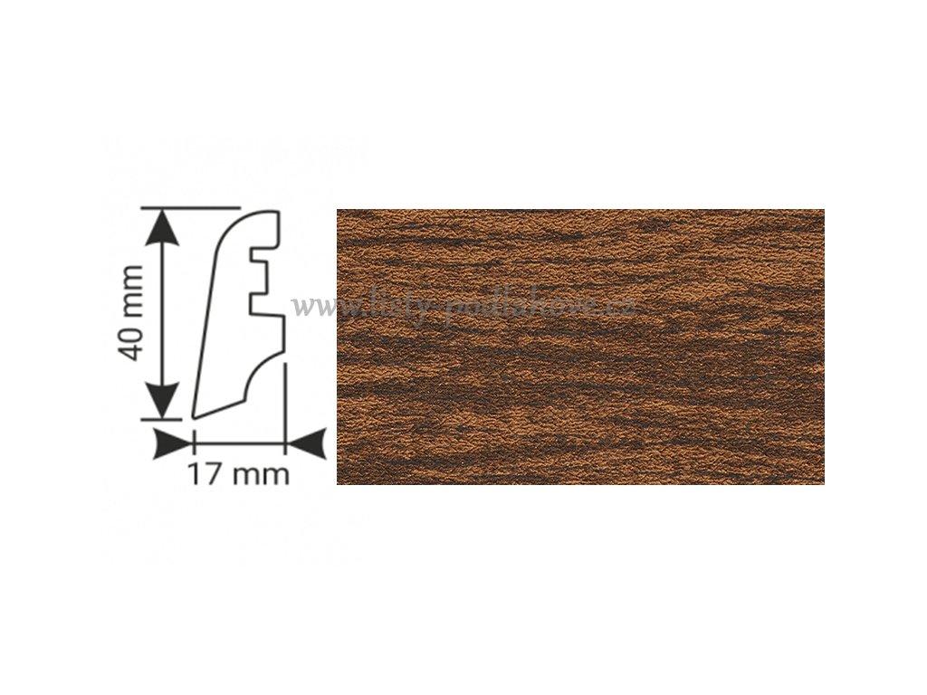 K-Produkt lišta KP40 13523 Dub hnědý