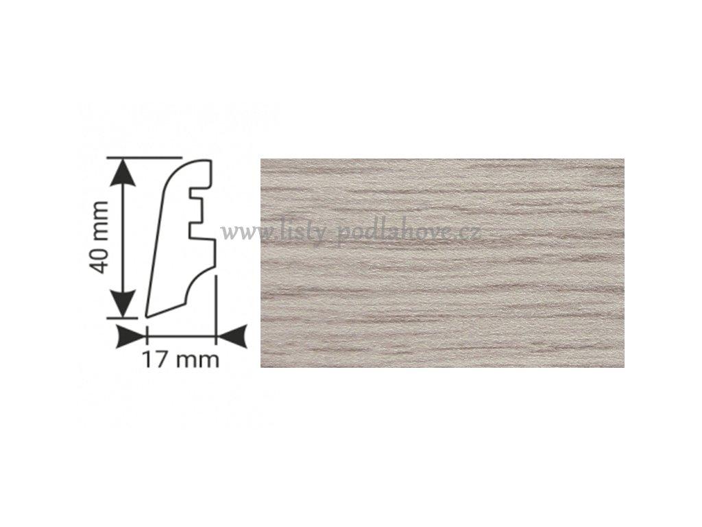 K-Produkt lišta KP40 3751 Dub elegant bílý