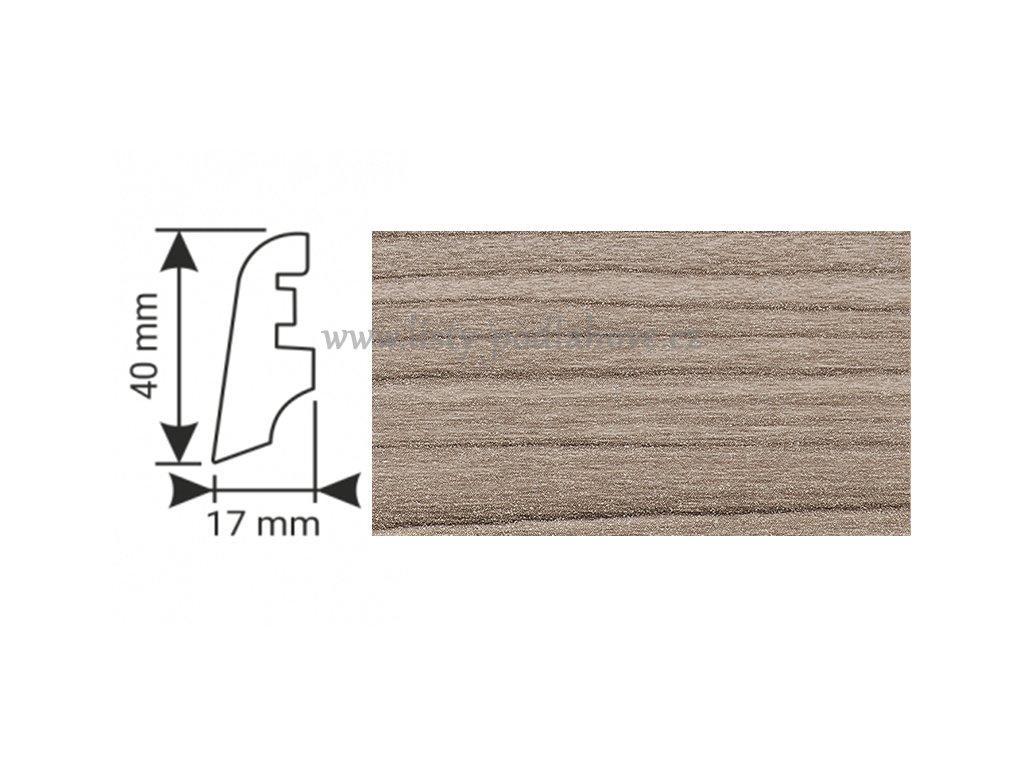 K-Produkt lišta KP40 4088 Dub šedý