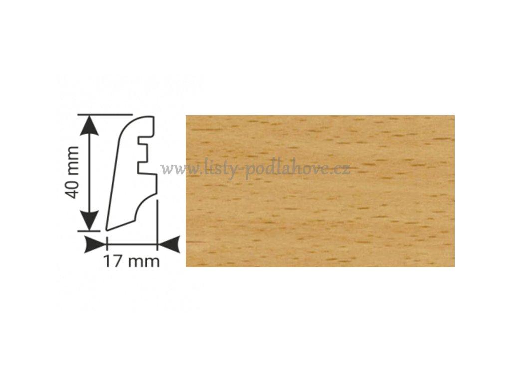 K-Produkt lišta KP40 54001 Buk přírodní