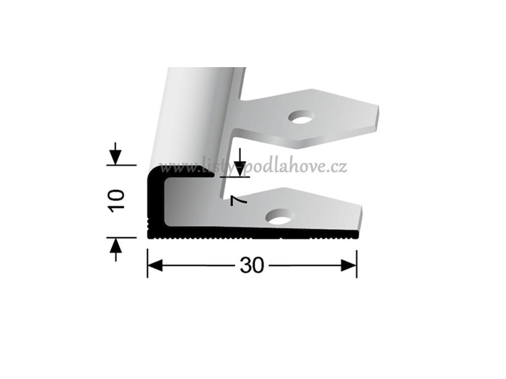 Küberit 803 EB - Ohýbací ukončovací profil hladký 7 mm   F4 Stříbro  250 cm