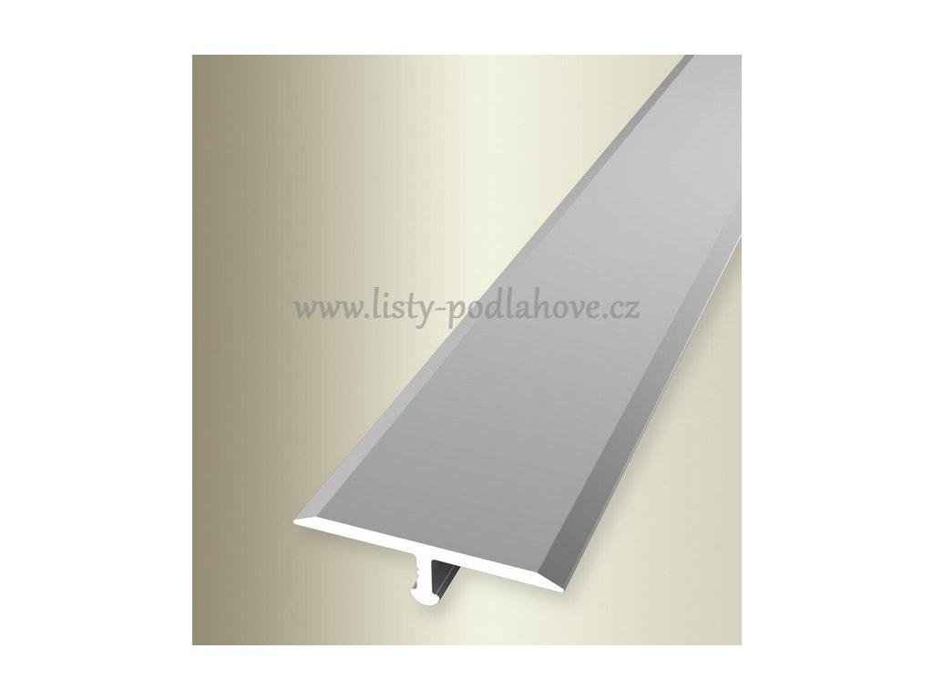 Küberit 295  - Ohýbací přechodový profil T 24 x 6 mm   F4 Stříbro  270 cm