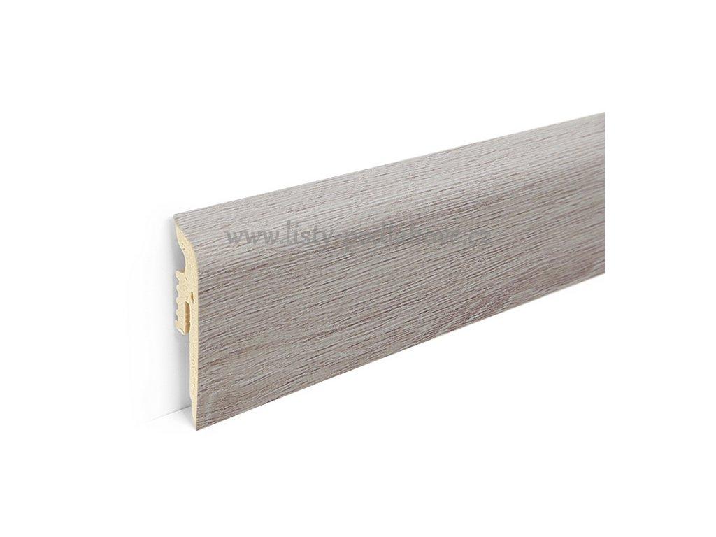 PVC soklová lišta k podlaze Afirmax BiClick   102 Scandinavian Oak (220 cm)