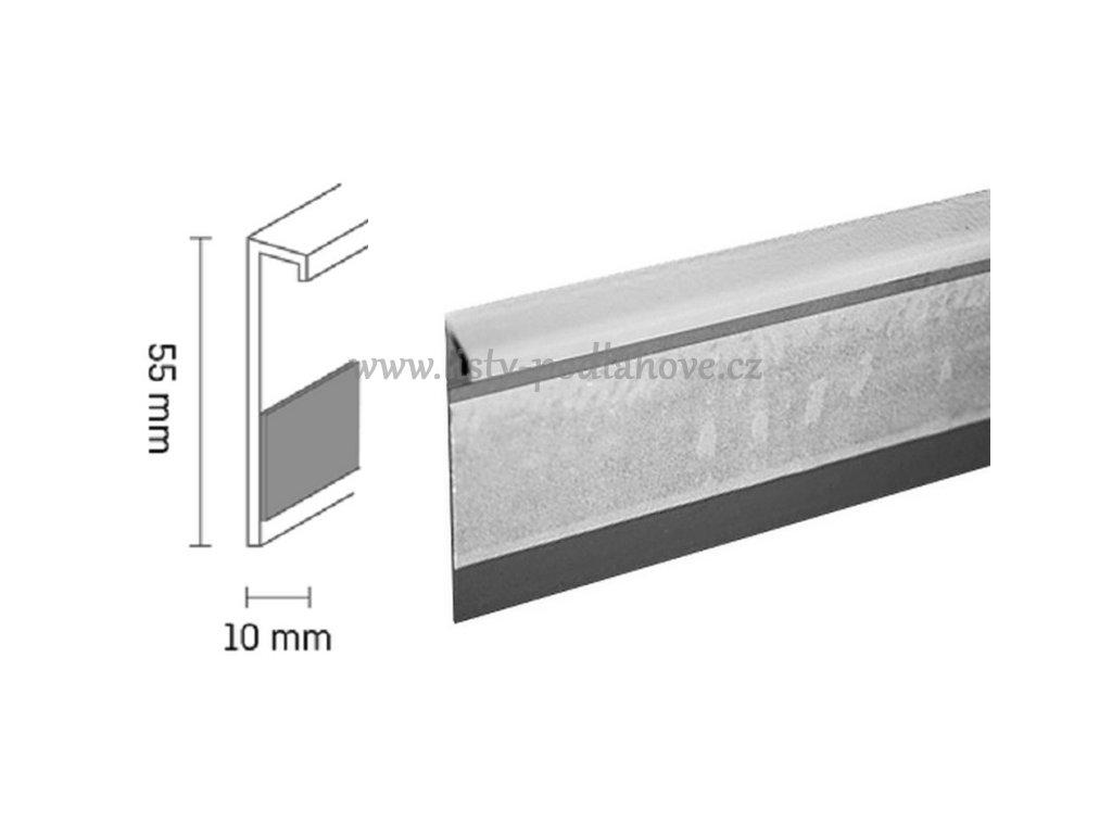 Kobercová lišta PVC TL55   138 světle hnědá (250 cm)