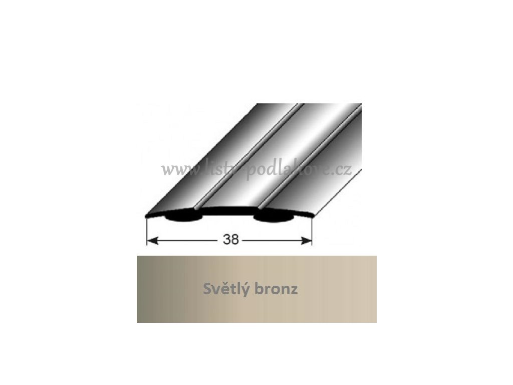 pechodovy profil 38x18 mm aluminiumelox sammolep