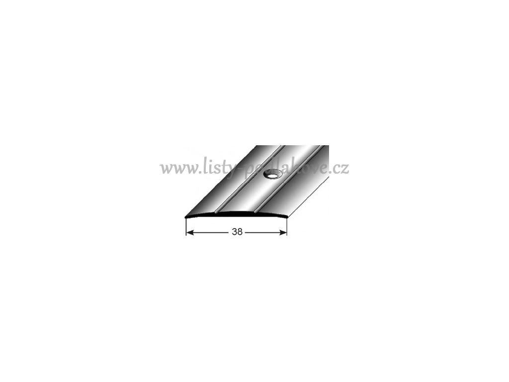 Přechodový profil  37 x 1,8 mm, šroubovací