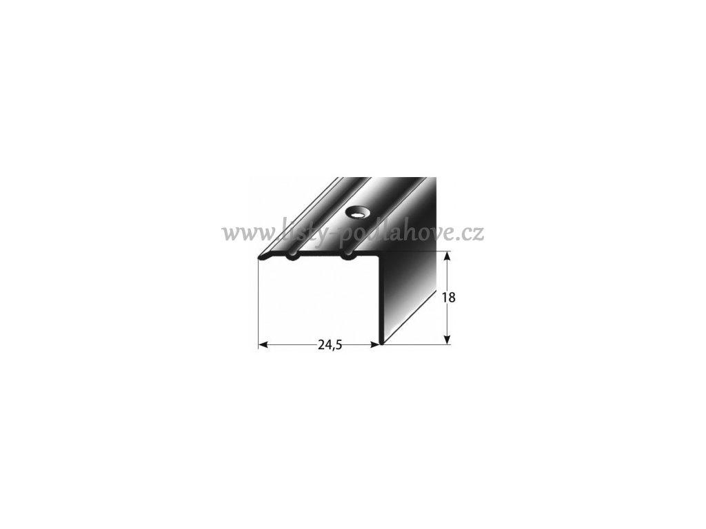 Schodový profil  18 x 24,5 mm, šroubovací