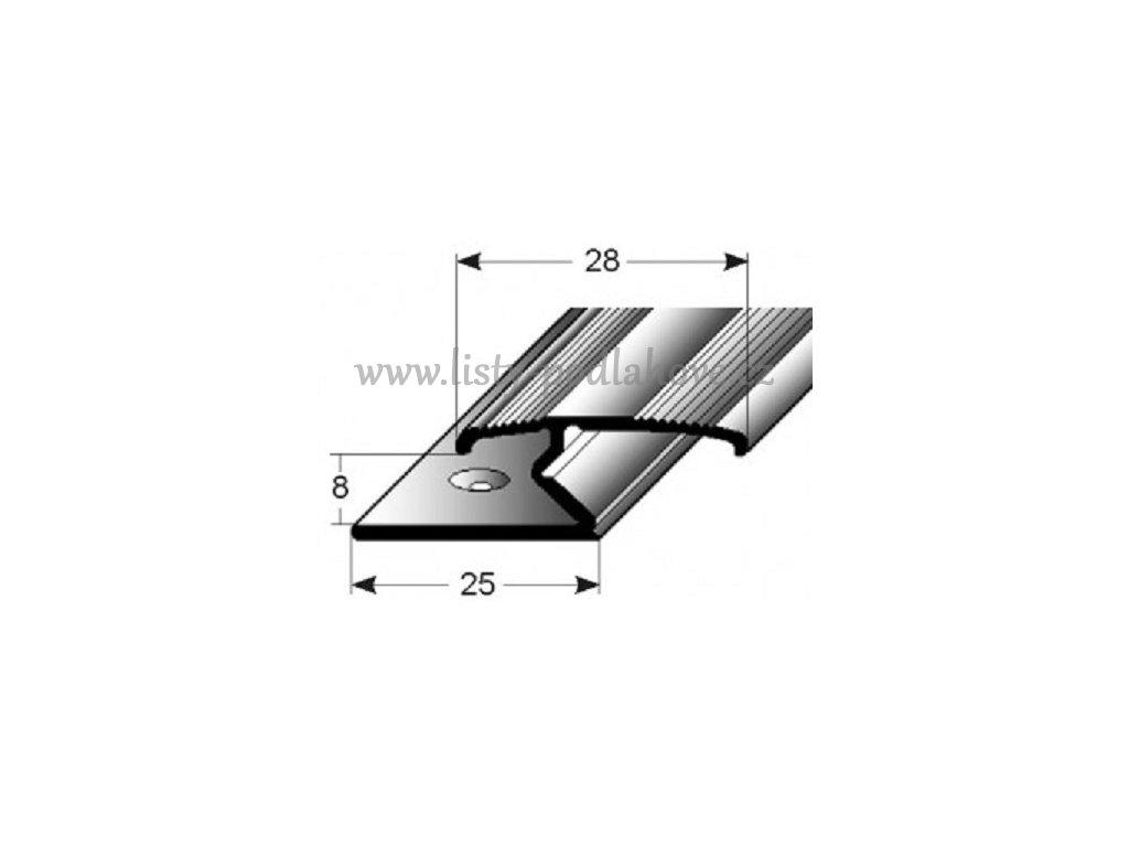 dvojity svrny profill aluminium elox vrtany