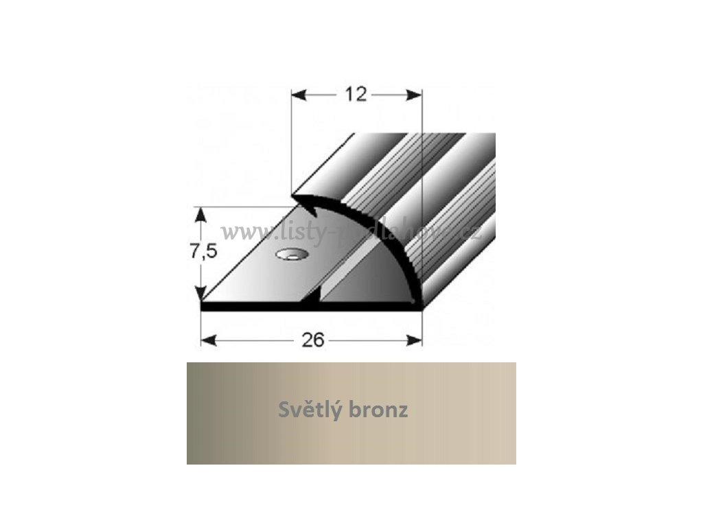 jednoduchy svrny profil aluminium elox vrtany