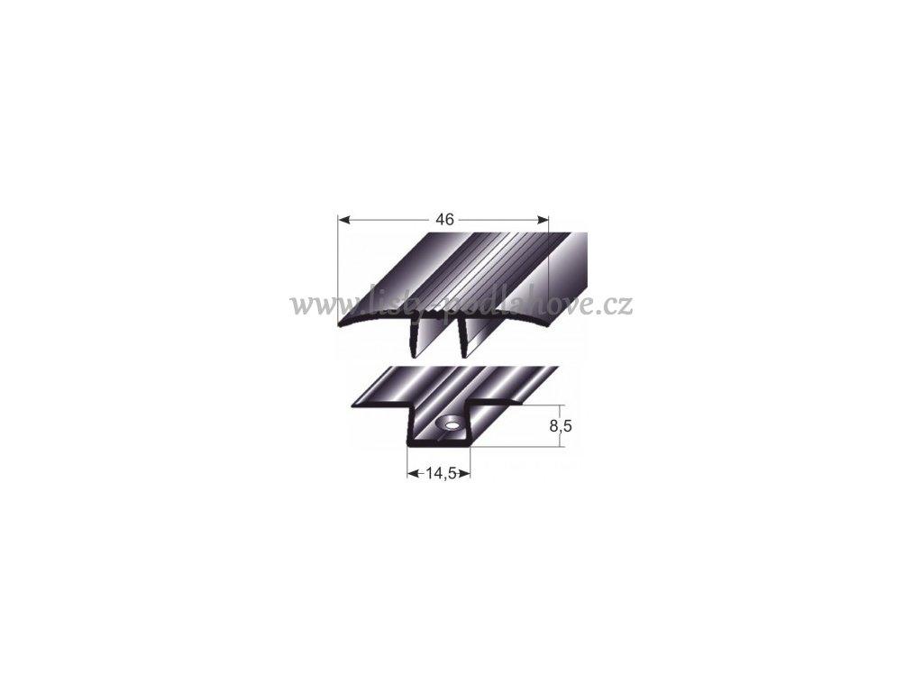 Přechodový profil  46 mm, narážecí
