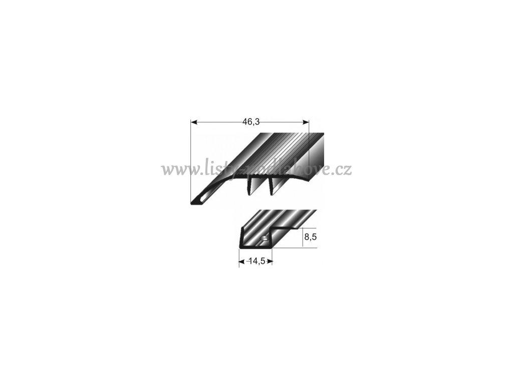 Vyrovnávací profil  46,3 mm, narážecí